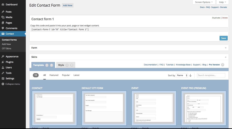 如何自定义修改contact form 7表单外观样式?