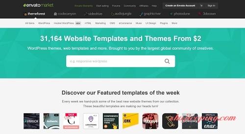 在themeforest购买超便宜WordPress主题模板